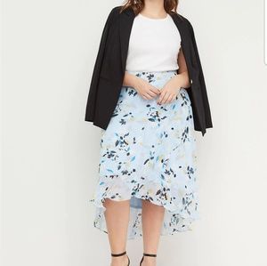 Lane Bryant | Floral Faux Wrap Skirt
